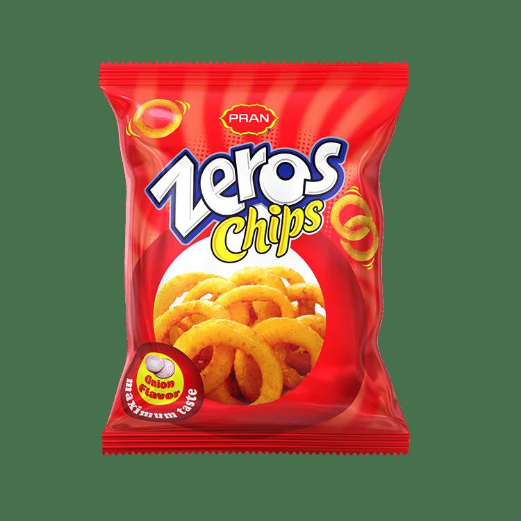 PRAN Zeros Chips Onion Flavor