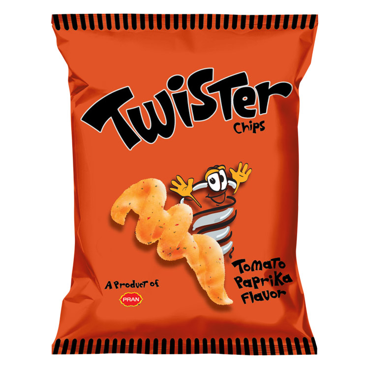Twister Chips Tomato Paprika Flavor