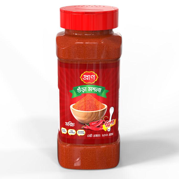 PRAN Chilli Powder 200gm Jar
