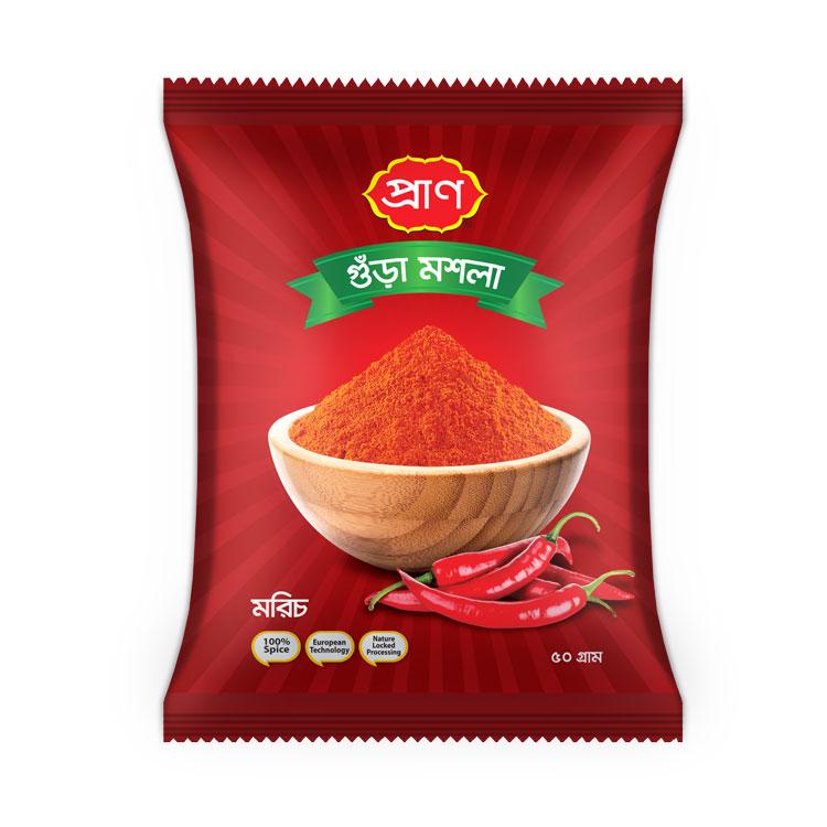 PRAN Chilli Powder 50gm Pouch
